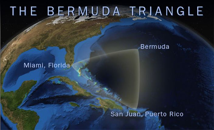 The Bermuda Triangle, Atlantic Ocean