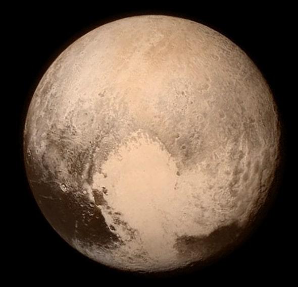 Satellite image of pluto