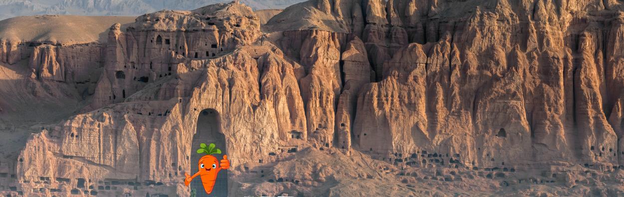 the giant buddhas of bamiyan - afghanistan